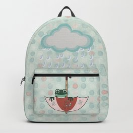 Rainy Day Frog Children's Art Backpack