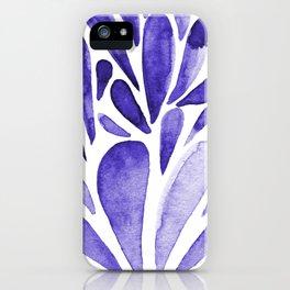 Watercolor artistic drops - electric blue iPhone Case