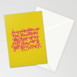 Inspiration is for amateurs x typography Stationery Cards