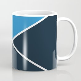 Envelope Geometric Shape Strong Blue with Navy Blue and White Coffee Mug