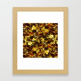 Solid Gold - Abstract, metallic gold textured pattern Framed Art Print