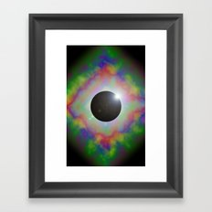 Eclipsed Eye Framed Art Print