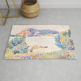 Cap Nègre by Henri-Edmond Cross 1909 French Cottage Mountain Country and Farmhouse Aesthetic Rug