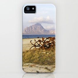 Sicilian Abandoned Port with Anchors iPhone Case