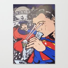 Super man bong dope Canvas Print