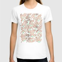 rose gold T-shirts featuring Olive Branches – Rose Gold & Mint by Cat Coquillette