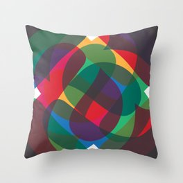 Abstract A Print Throw Pillow