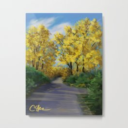 Autumn Road DP151004-14 Metal Print