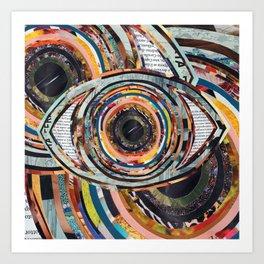 Rainbow Eyes Collage Art Print