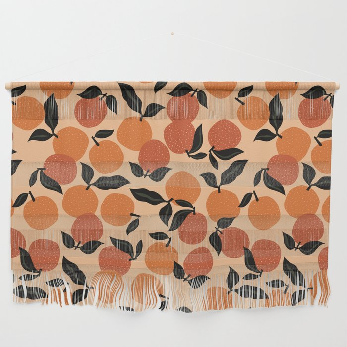 Seamless Citrus Pattern / Oranges Wall Hanging