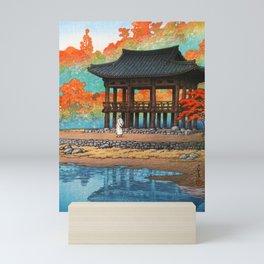 12,000pixel-500dpi - Kawase Hasui - The Eight Views Of Korea, Hakuyo Temple, Sokei Tower Mini Art Print