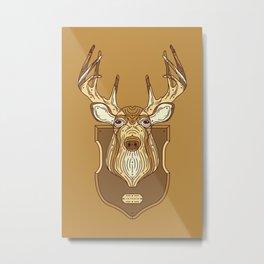 Mounted Deer Metal Print