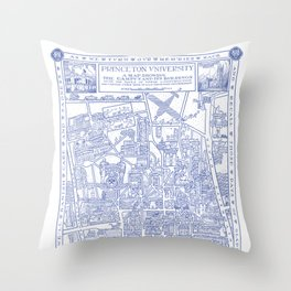 PRINCETON university map NEW JERSEY dorm decor Throw Pillow