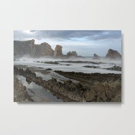 Broken Coast Cantabria Metal Print
