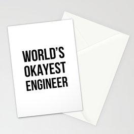 World's Okayest Engineer Stationery Cards