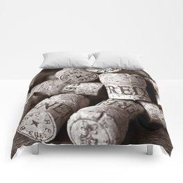 Cork of Champagne - Brown Duplex Comforters