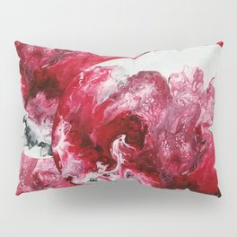 red white black abstraction Pillow Sham