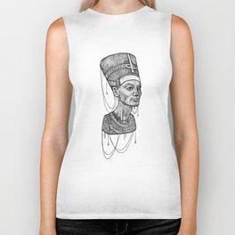 Nefertiti bust dotted Biker Tank