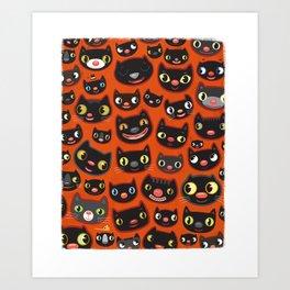 Happy Halloween Cats! Art Print