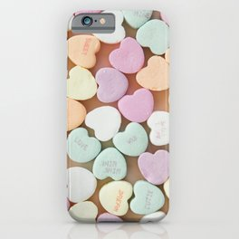 Valentine Candy Hearts iPhone Case
