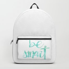 Be Smart: watercolored Backpack
