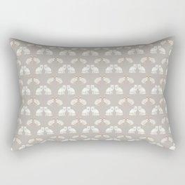 Arctic animals on pale grey Rectangular Pillow