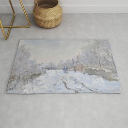 Snow Scene at Argenteuil Rug