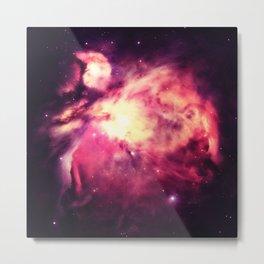 Orion Nebula Warm Metal Print