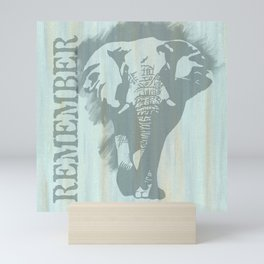 African Bull Elephant Remember Mini Art Print