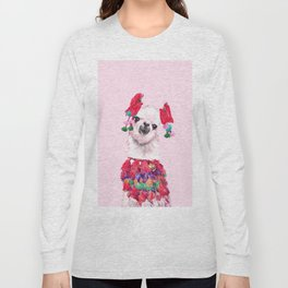 Llama in Colourful Costume Long Sleeve T-shirt
