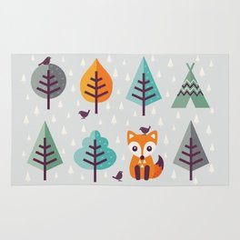 FOX IN THE FOREST Rug