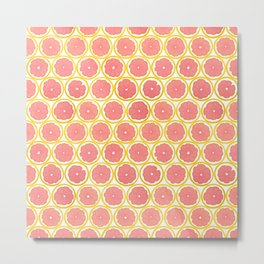 Fruit of the Day: Grapefruit Metal Print