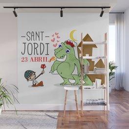 Sant Jordi Wall Mural