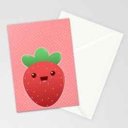 Cute lil strawberry. Stationery Cards