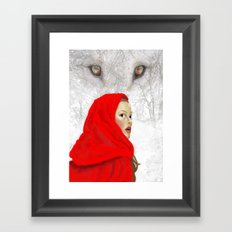 Whose there? Framed Art Print