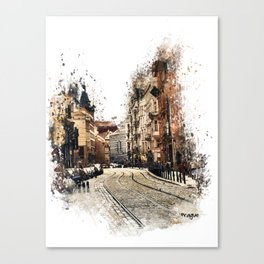 Prague street art Canvas Print