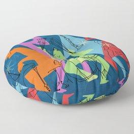 Mid-Century Modern Jazz Band Floor Pillow