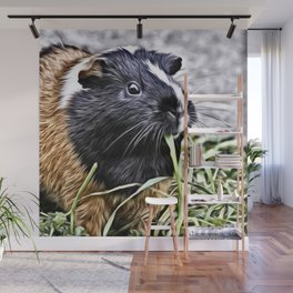 Painted Guinea Pig 3 Wall Mural