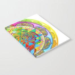 Inner Strength Psychedelic Tiger Sri Yantra Mandala Notebook