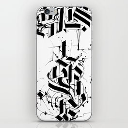 CALLIGRAPHY N°6 ZV iPhone Skin