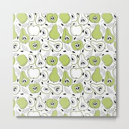 Pear pattern Metal Print