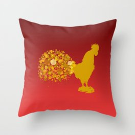2017 Chinese Lunar New Year Of The Rooster Throw Pillow