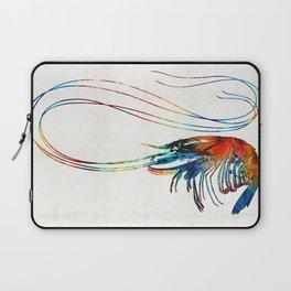 Colorful Shrimp Art by Sharon Cummings Laptop Sleeve