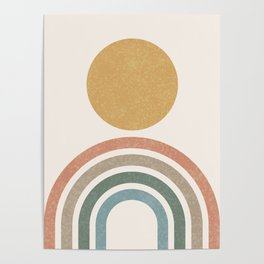 Mid-Century Modern Rainbow Poster