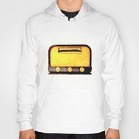 radio Hoodies featuring Old Radio by Mr and Mrs Quirynen