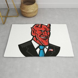 Devil American Businessman Mascot Rug