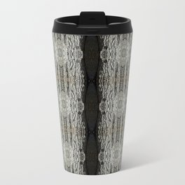 Oak Tree Bark Vertical Pattern by Debra Cortese Designs Metal Travel Mug