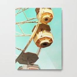 Ferris Wheel Close Up Metal Print