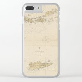 Vintage Map of The Virgin Islands (1921) Clear iPhone Case