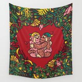 Monkey's love Wall Tapestry